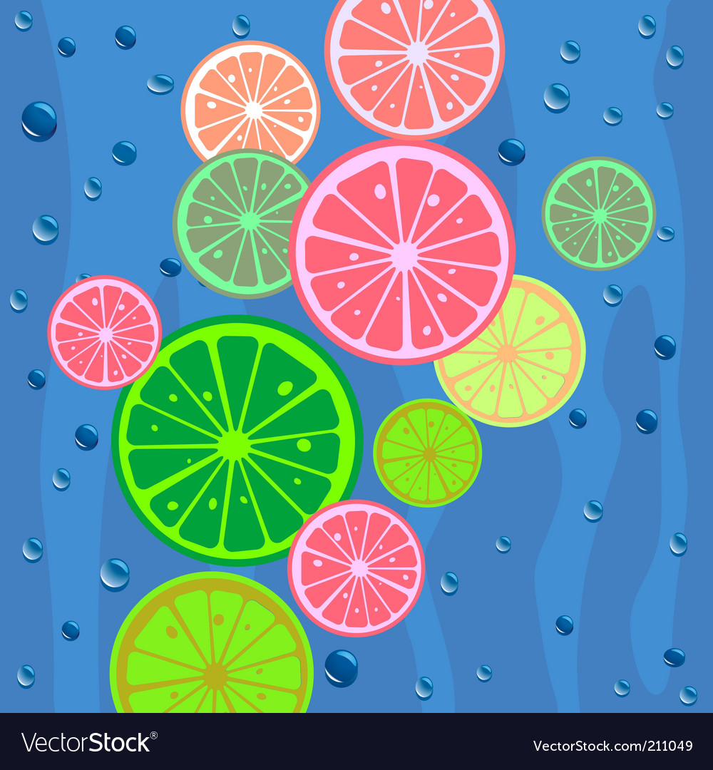 Lemons slices background vector | Price: 1 Credit (USD $1)