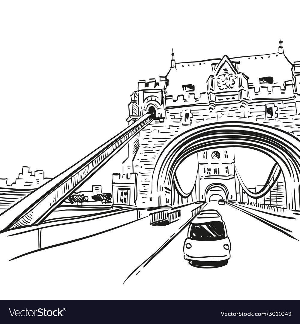 London bridge drawing vector   Price: 1 Credit (USD $1)