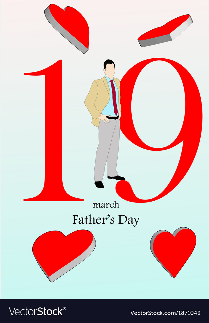 March 19 fathers day vector | Price: 1 Credit (USD $1)