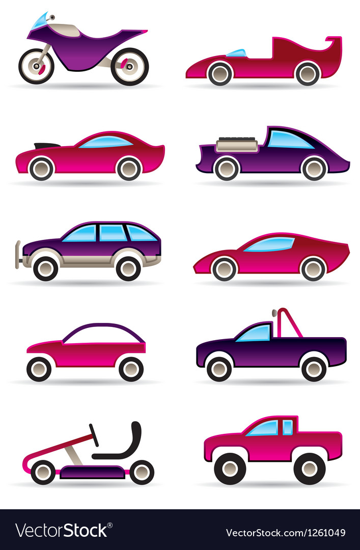 Racing cars motorcycles and off roads vector | Price: 3 Credit (USD $3)