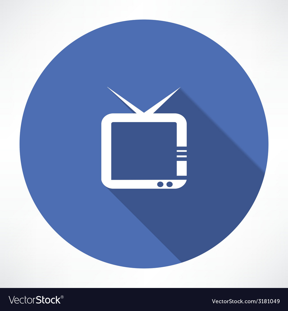 Television icon vector | Price: 1 Credit (USD $1)