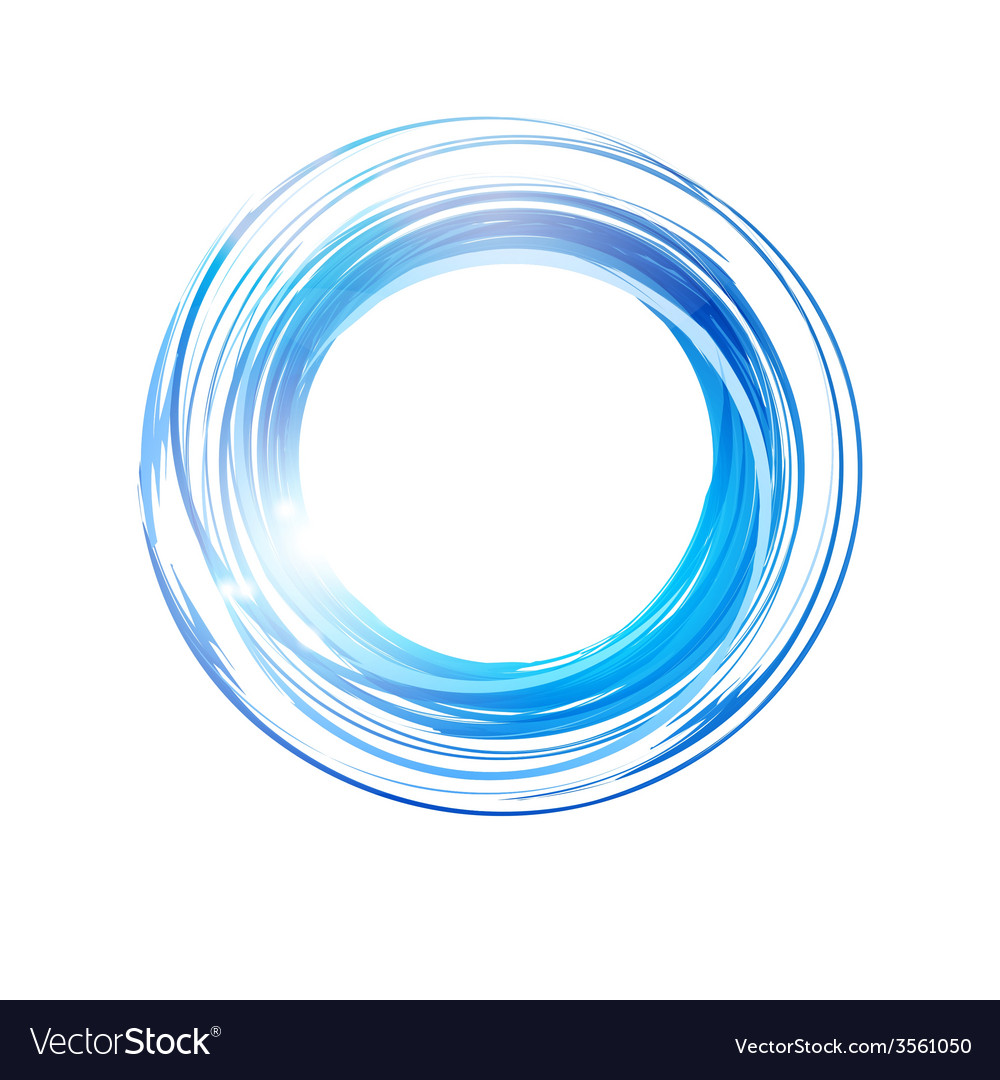 Abstract blue circle banner logo design template vector | Price: 1 Credit (USD $1)