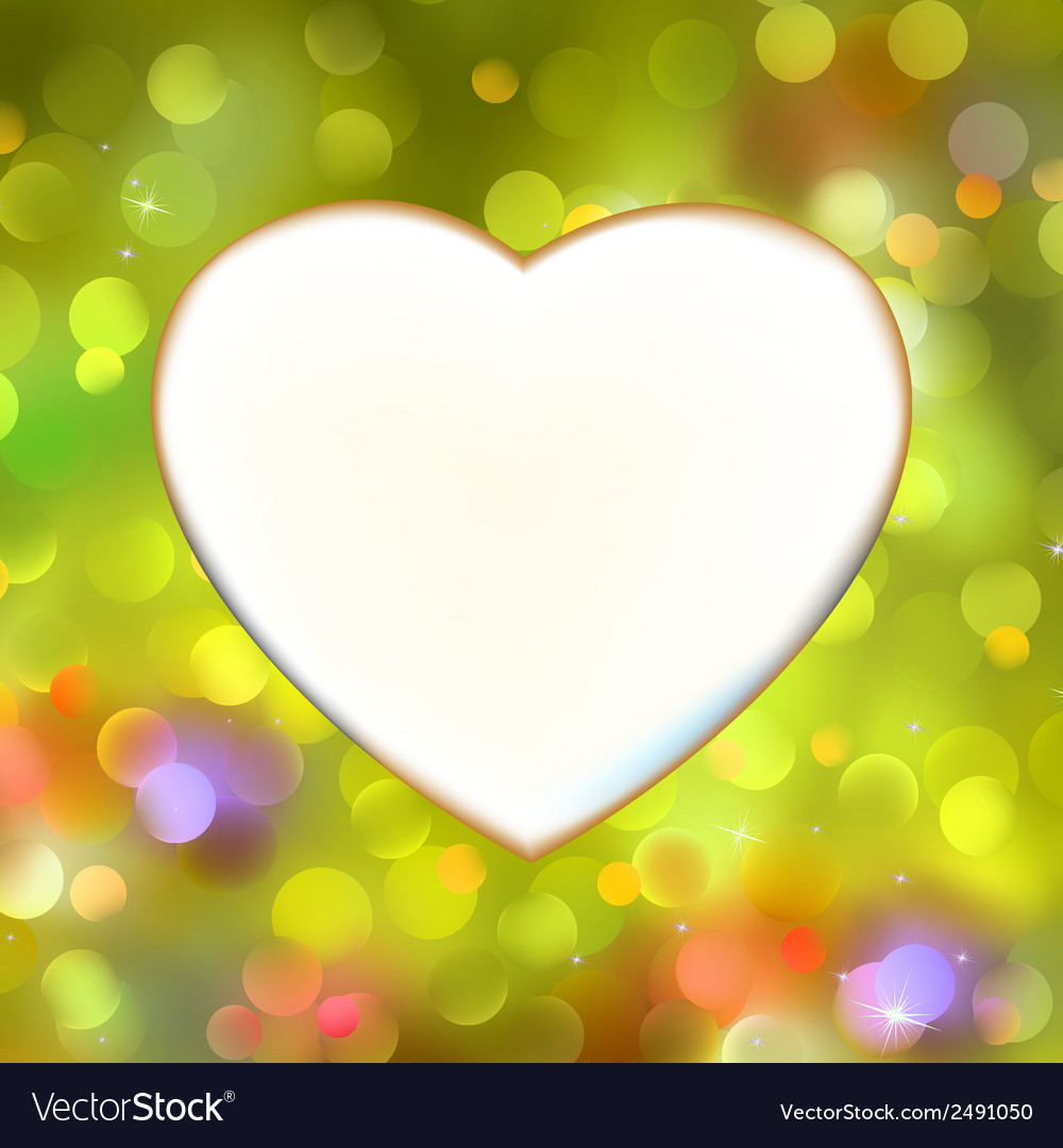 Abstract heart card in yellow eps 8 vector | Price: 1 Credit (USD $1)