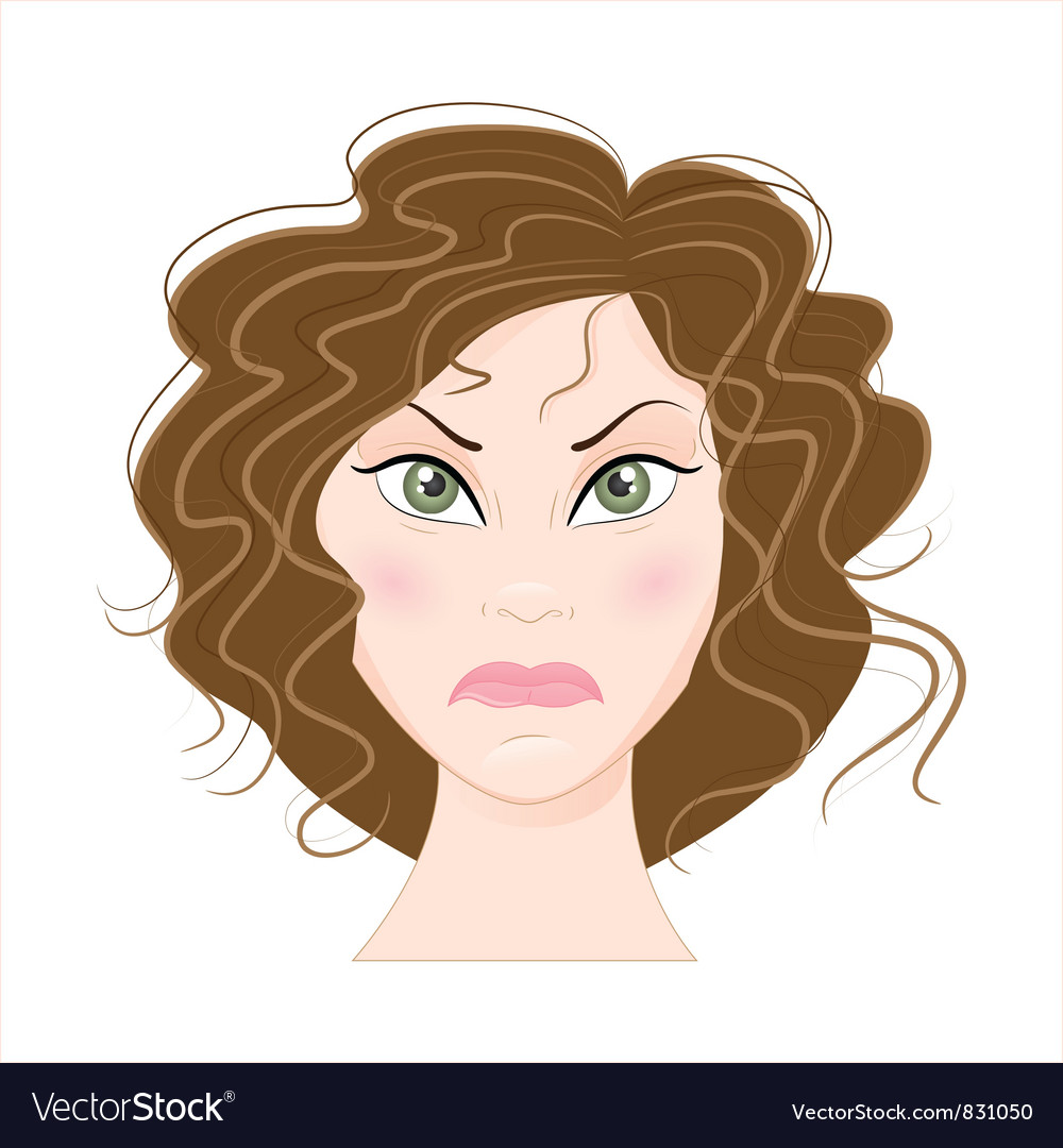 Angry woman vector | Price: 3 Credit (USD $3)