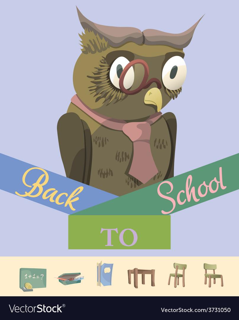 Back to school owl vector | Price: 1 Credit (USD $1)
