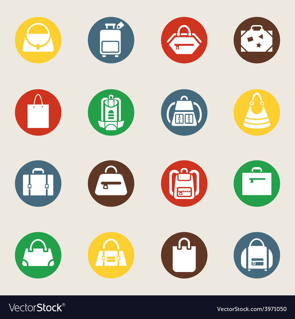 Bags and luggage icons vector | Price: 1 Credit (USD $1)