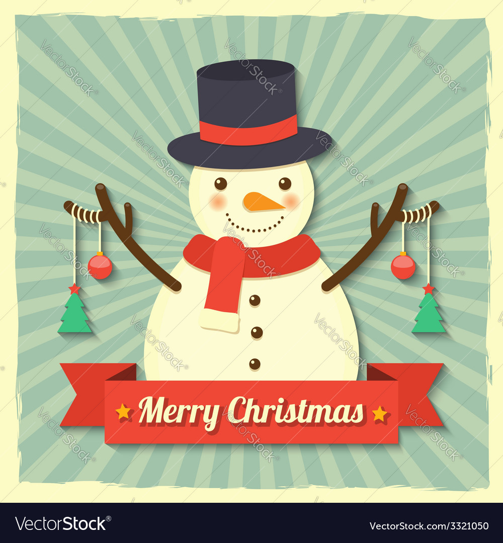 Christmas snowman background vector | Price: 1 Credit (USD $1)