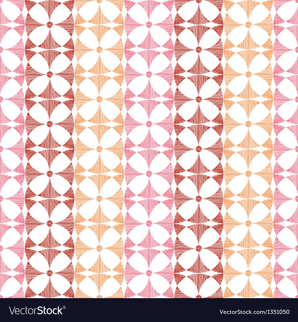 Geometric red ikat stripes seamless pattern vector | Price: 1 Credit (USD $1)