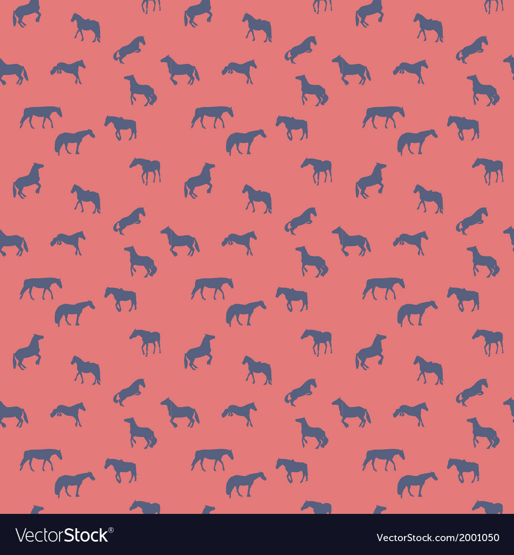 Horse runs hops gallops isolated seamless pattern vector   Price: 1 Credit (USD $1)