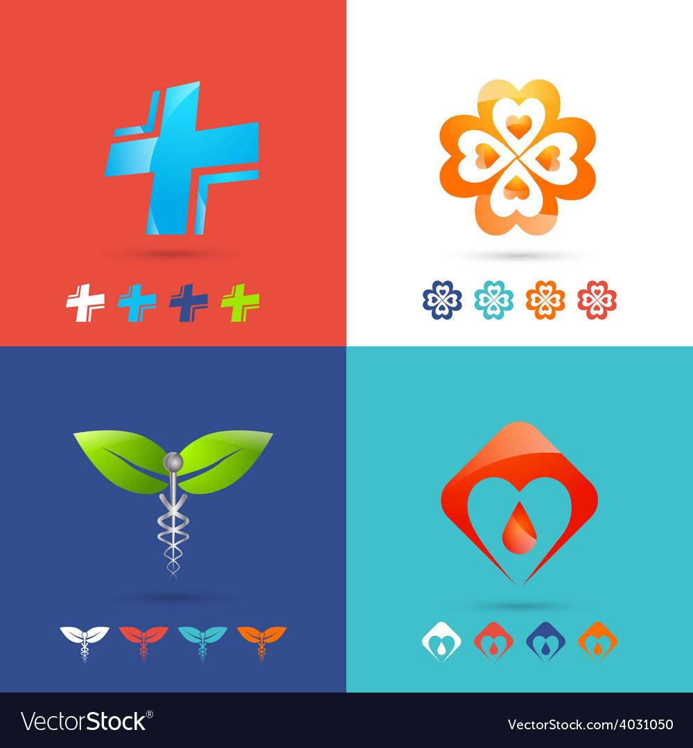 Medical logo set vector | Price: 1 Credit (USD $1)