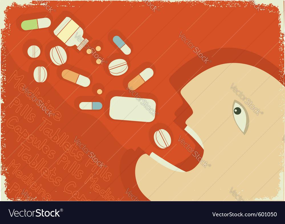Medicine poster vector | Price: 1 Credit (USD $1)