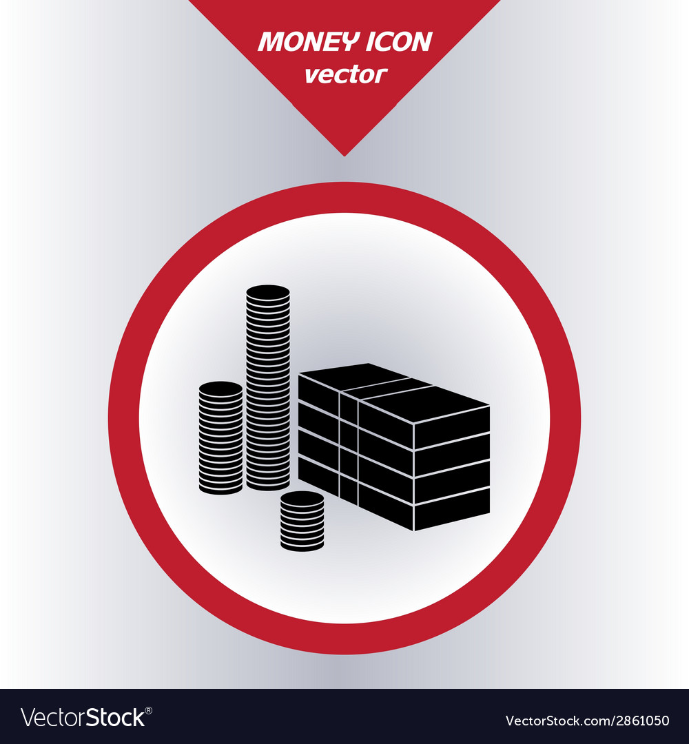 Money icon with paper banknotes and coins vector | Price: 1 Credit (USD $1)