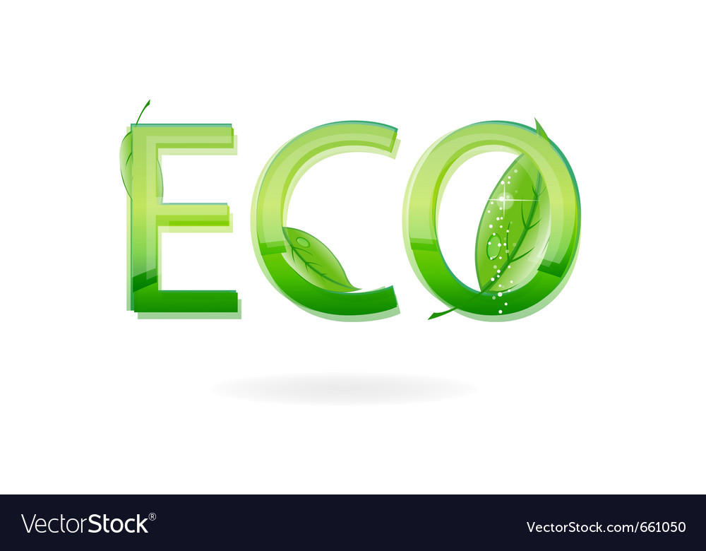 Nature eco sign green color vector | Price: 1 Credit (USD $1)