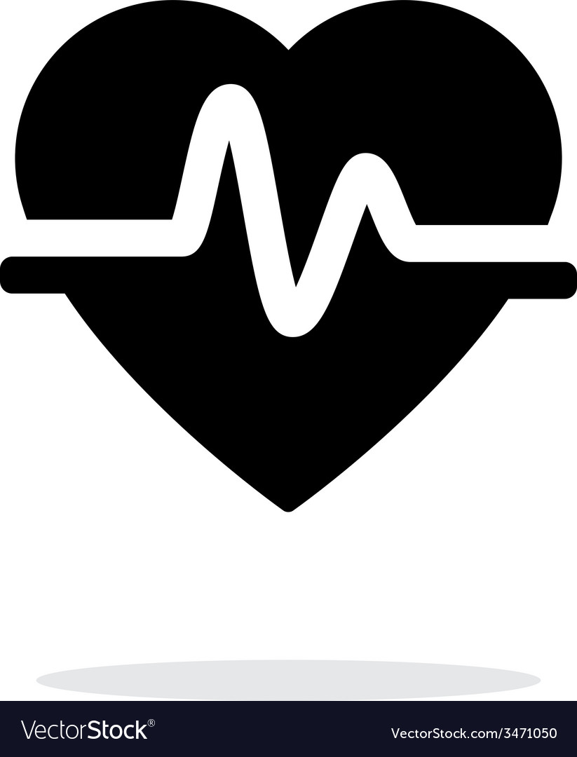 Pulse heart icon on white background vector | Price: 1 Credit (USD $1)