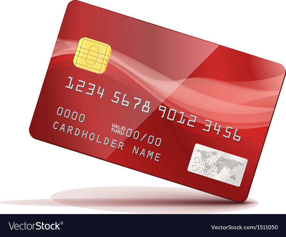 Red credit card vector | Price: 1 Credit (USD $1)