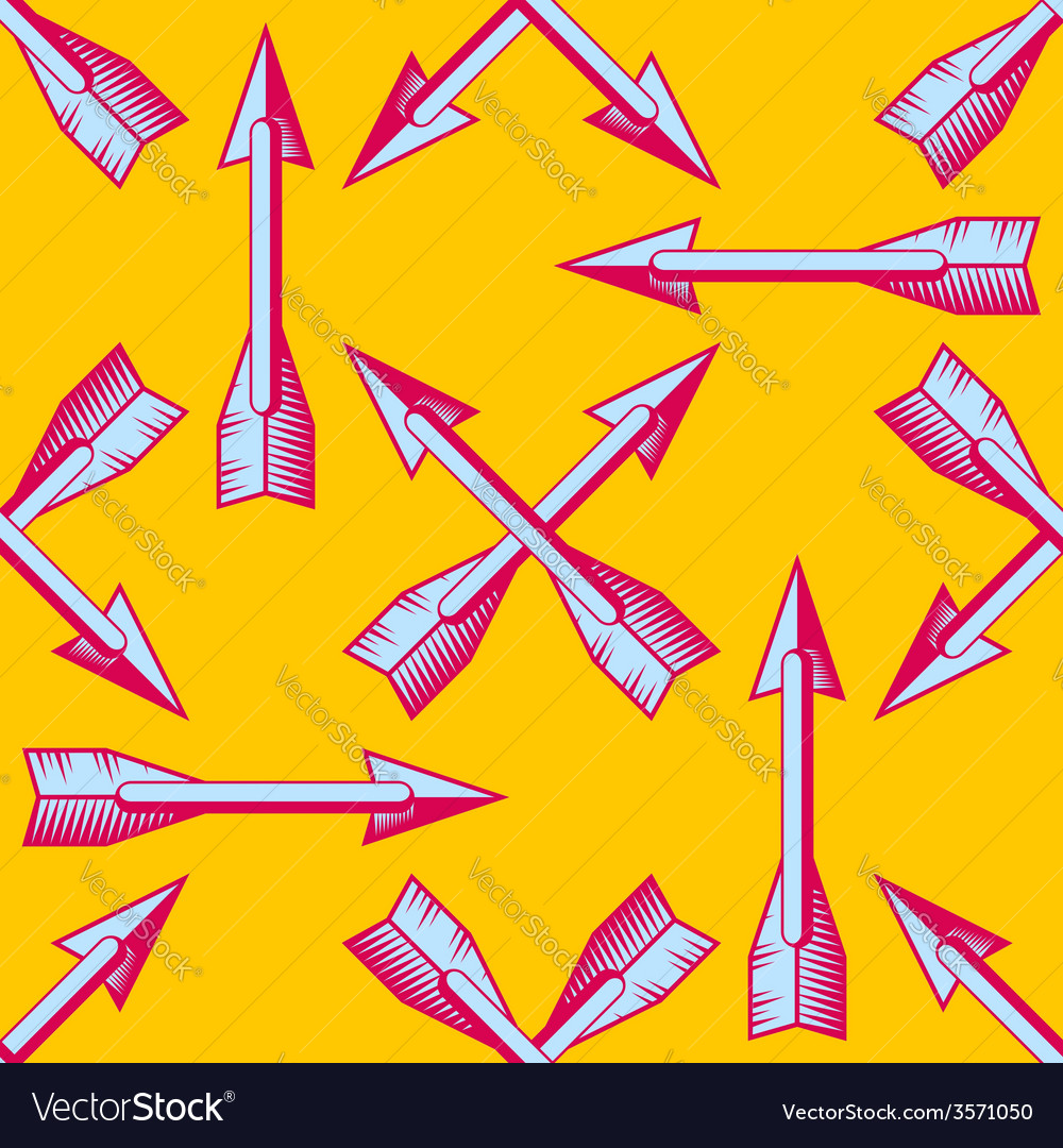 Seamless pattern with vintage arrows vector | Price: 1 Credit (USD $1)