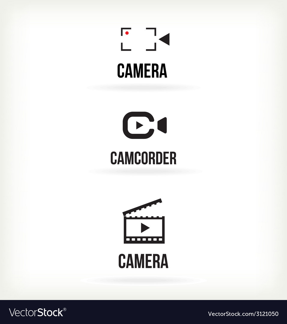Set of symbols for video vector | Price: 1 Credit (USD $1)