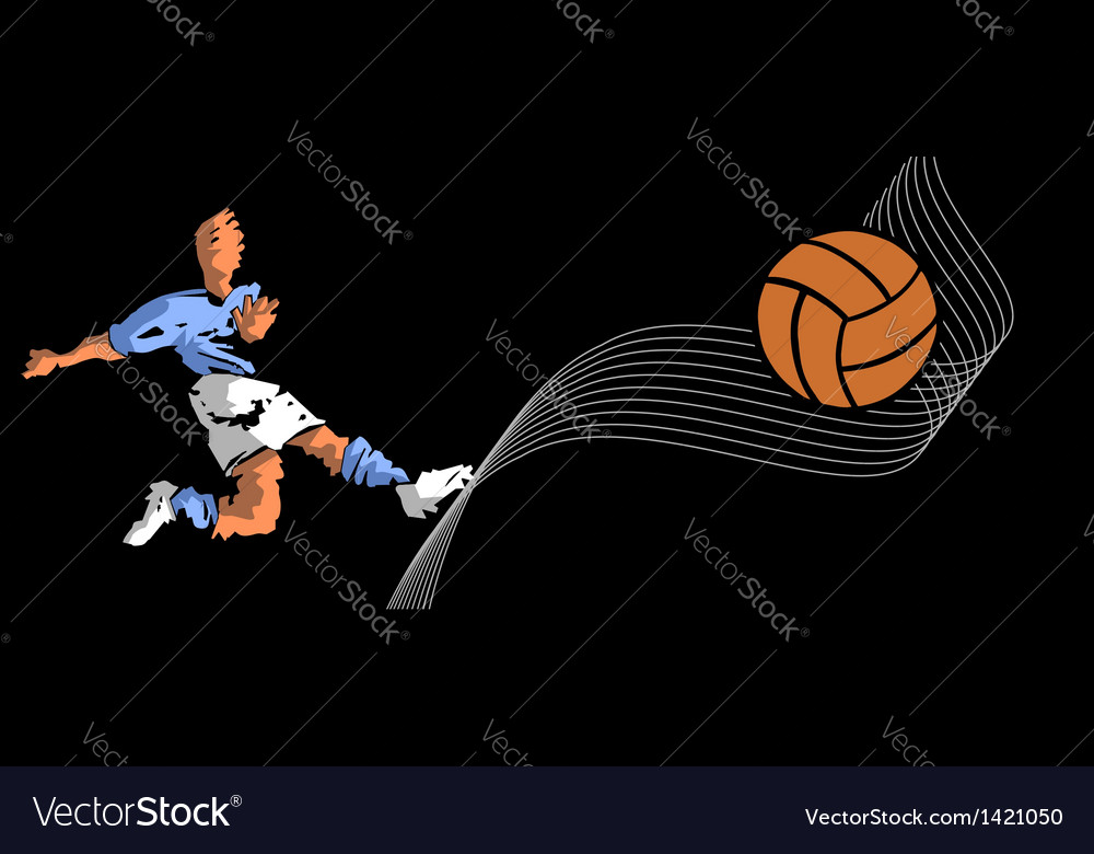 Soccer player shooting vector | Price: 1 Credit (USD $1)