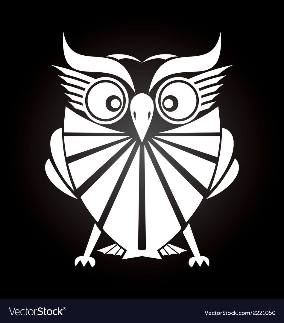White owl vector | Price: 1 Credit (USD $1)
