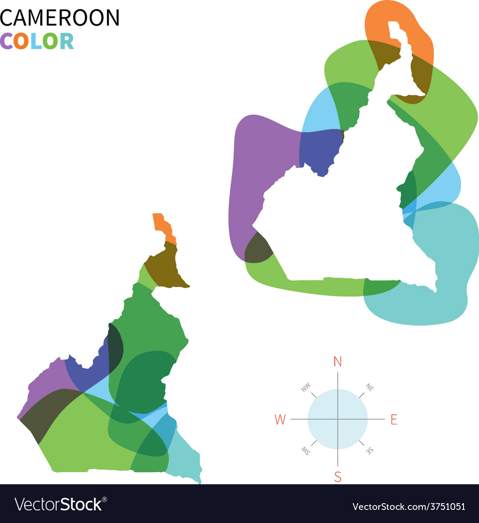 Abstract color map of cameroon vector | Price: 1 Credit (USD $1)
