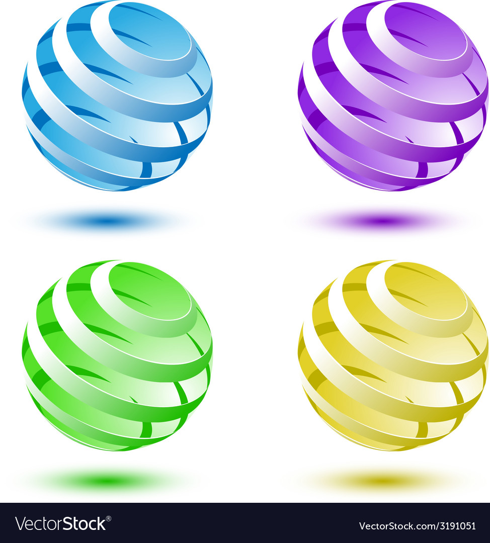 Abstract colorful 3d globe background vector | Price: 1 Credit (USD $1)