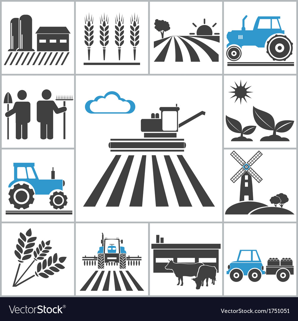 Agriculture icons vector | Price: 1 Credit (USD $1)
