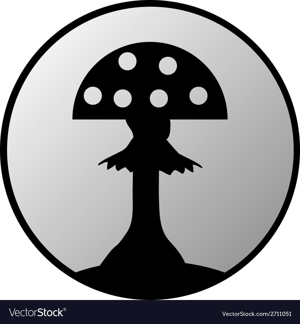 Amanita button vector | Price: 1 Credit (USD $1)