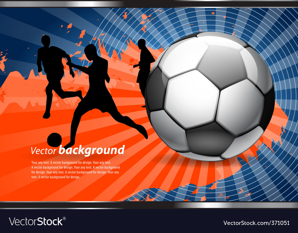 Football poster vector | Price: 1 Credit (USD $1)