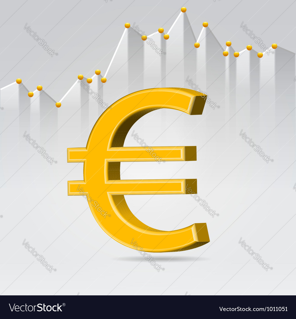 Golden euro sign vector | Price:  Credit (USD $)