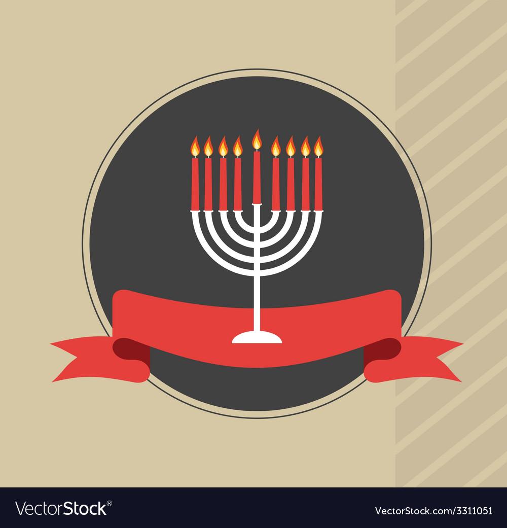 Happy hanukkah jewish holiday vector | Price: 1 Credit (USD $1)