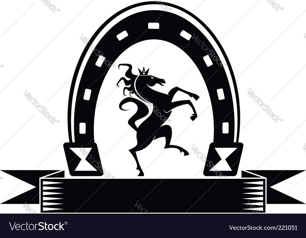 Horseshoe lucky symbol vector | Price: 1 Credit (USD $1)