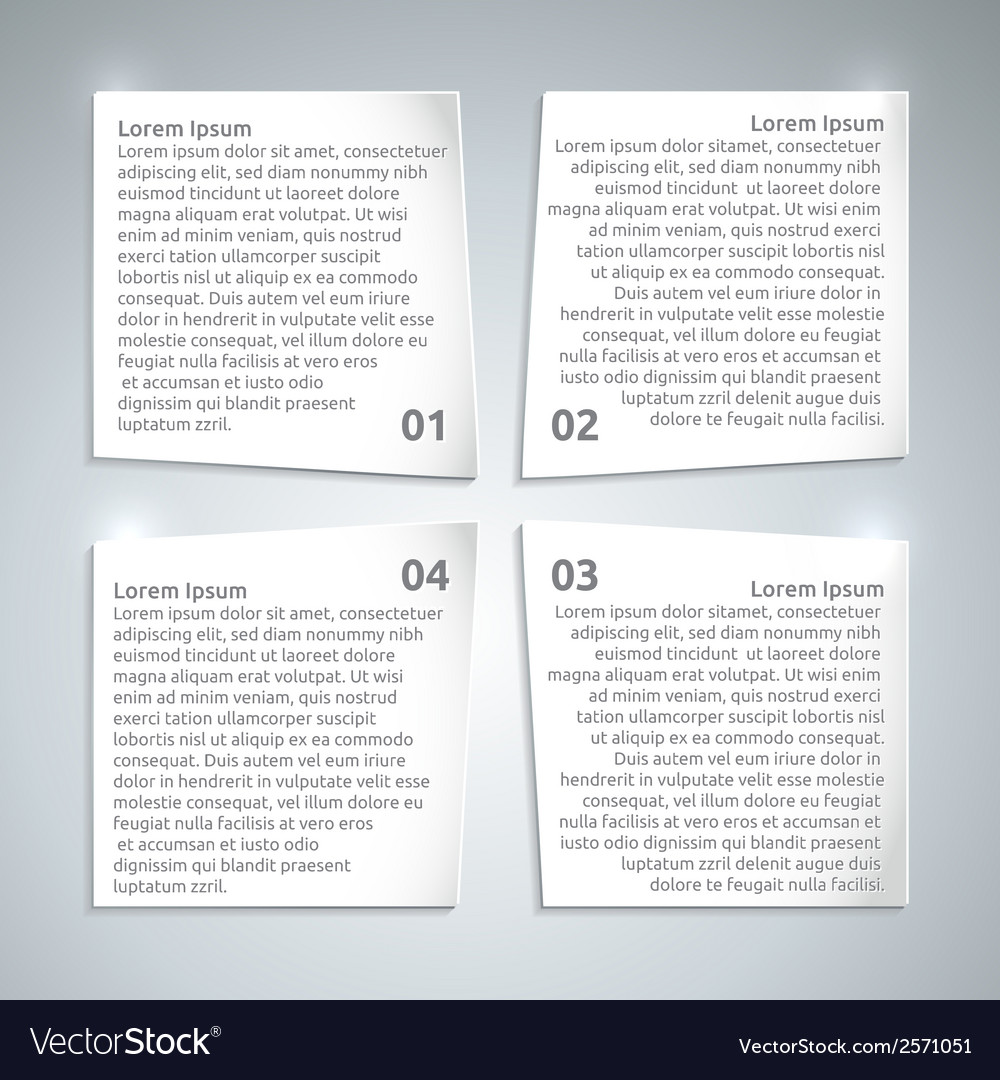 Infographic paper design template vector | Price: 1 Credit (USD $1)