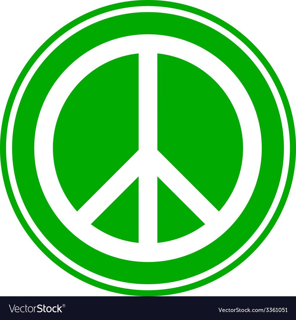 Peace symbol button vector | Price: 1 Credit (USD $1)