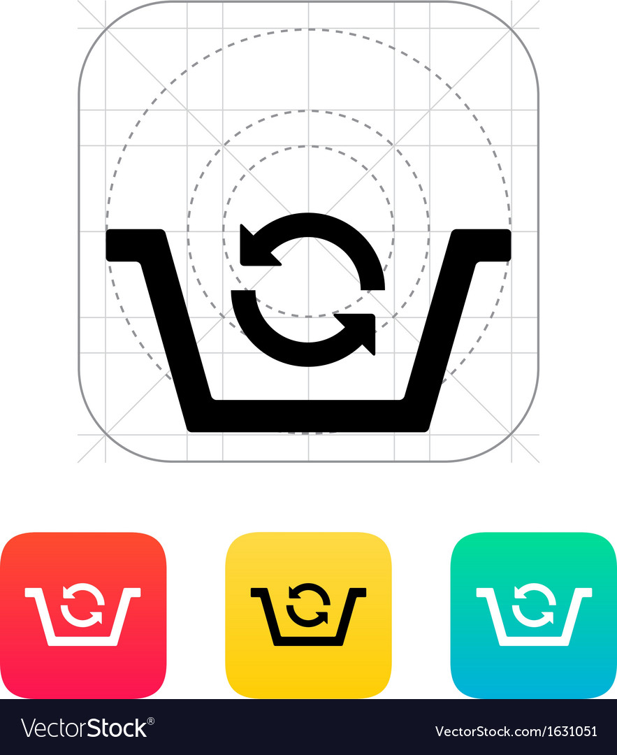 Shopping basket exchange icon vector | Price: 1 Credit (USD $1)