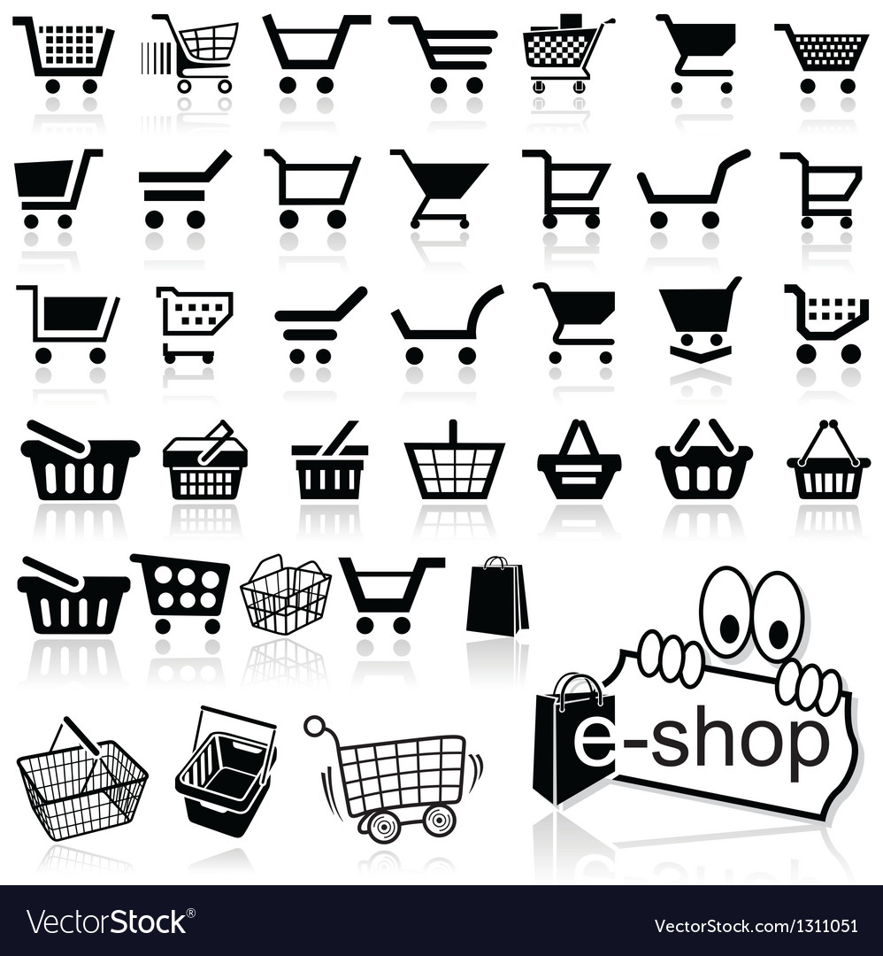 Shopping cart icon vector | Price: 1 Credit (USD $1)