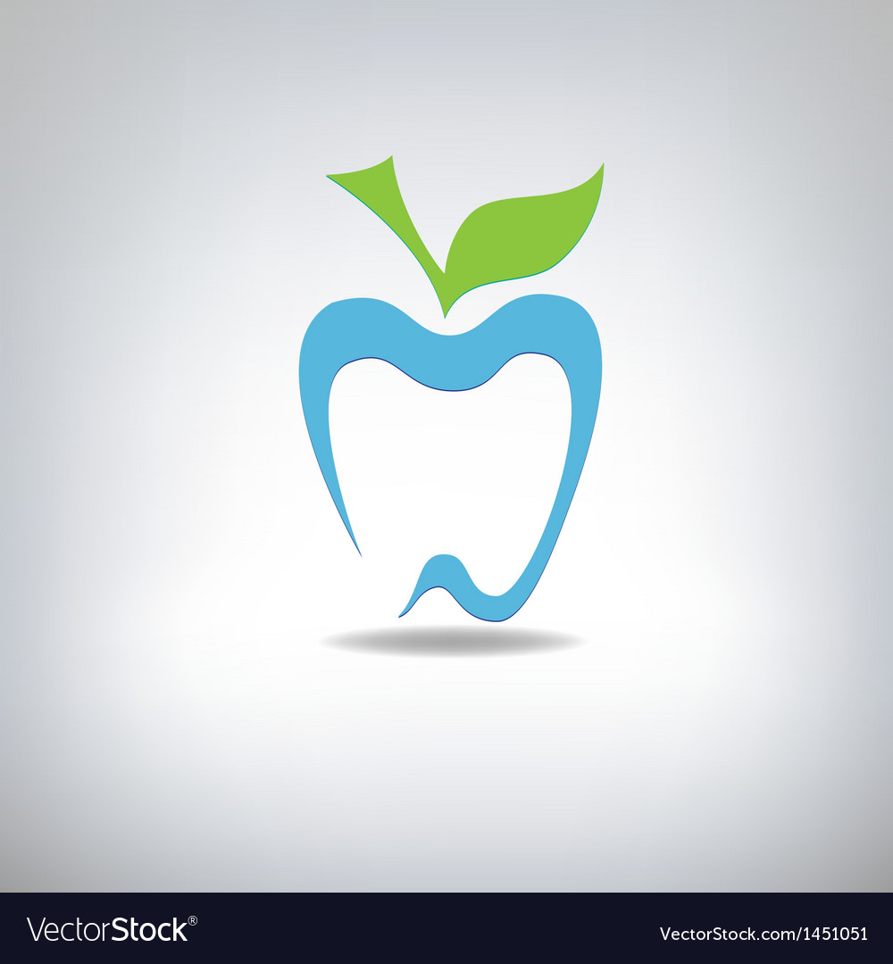 Silhouette of a tooth in the form of an apple vector | Price: 1 Credit (USD $1)