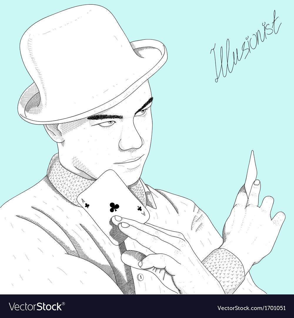 Sketch of man vector | Price: 1 Credit (USD $1)
