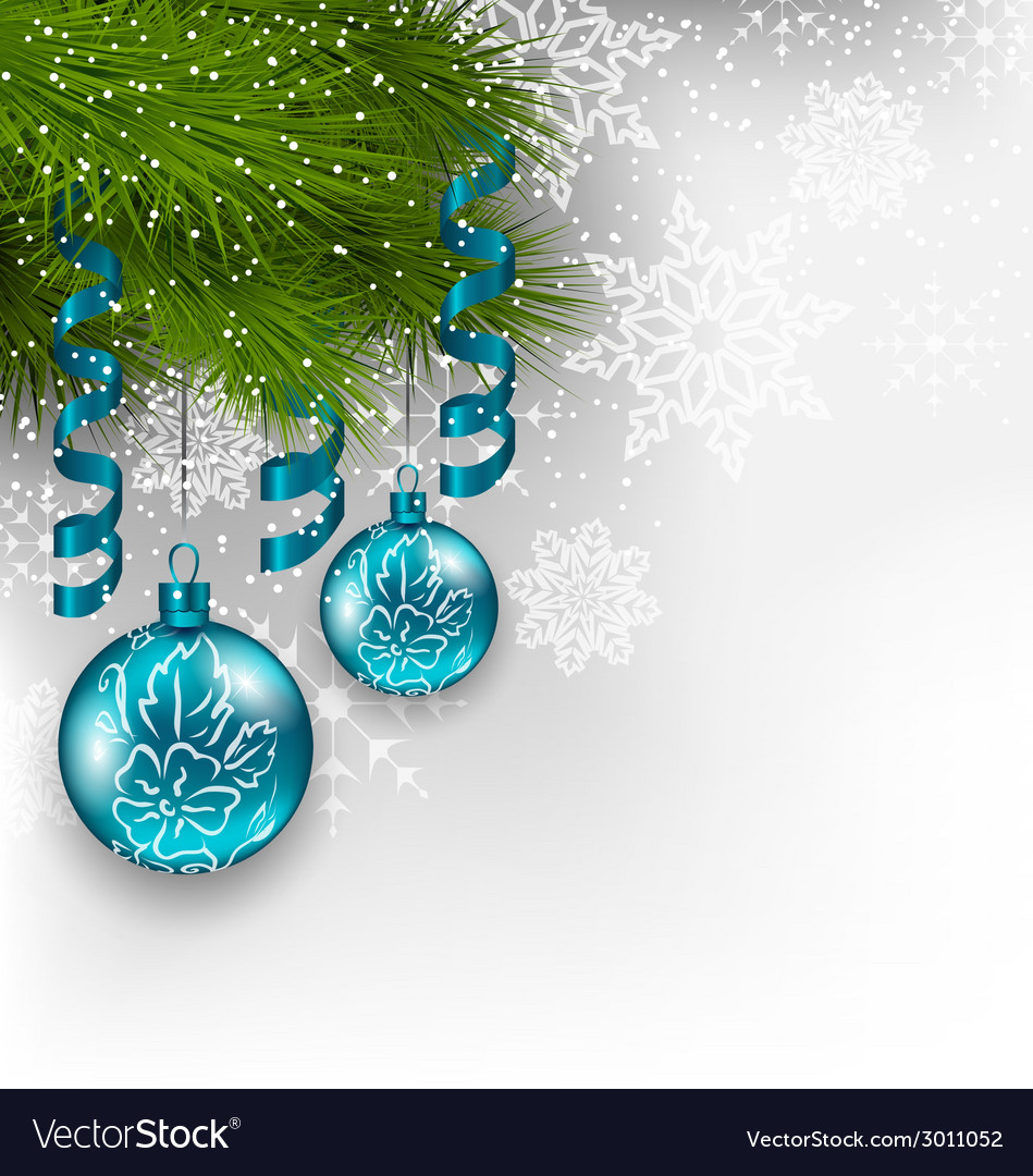 Christmas background with hanging glass balls and vector | Price: 1 Credit (USD $1)