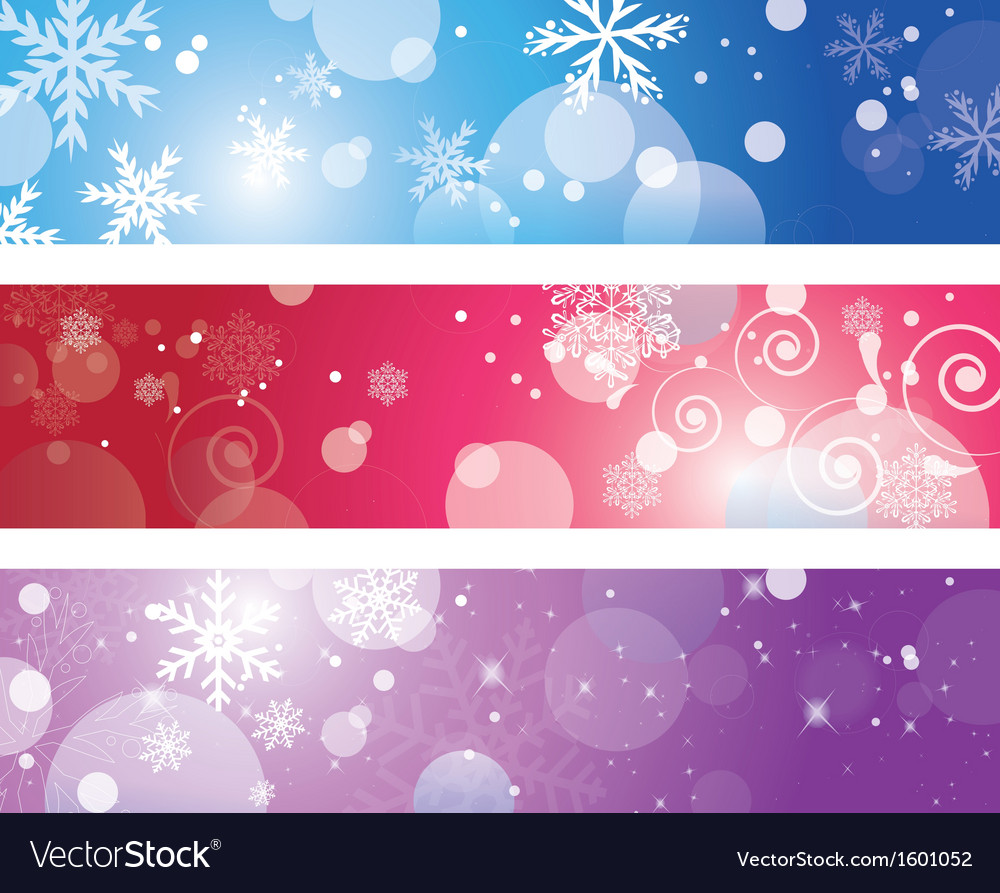 Christmas banner with snowflake vector | Price: 1 Credit (USD $1)