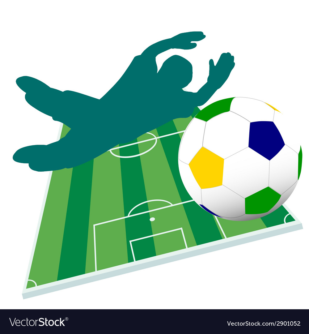 Football player color vector | Price: 1 Credit (USD $1)