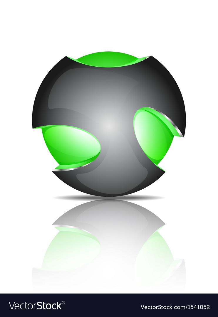 Light ball logo vector | Price: 1 Credit (USD $1)
