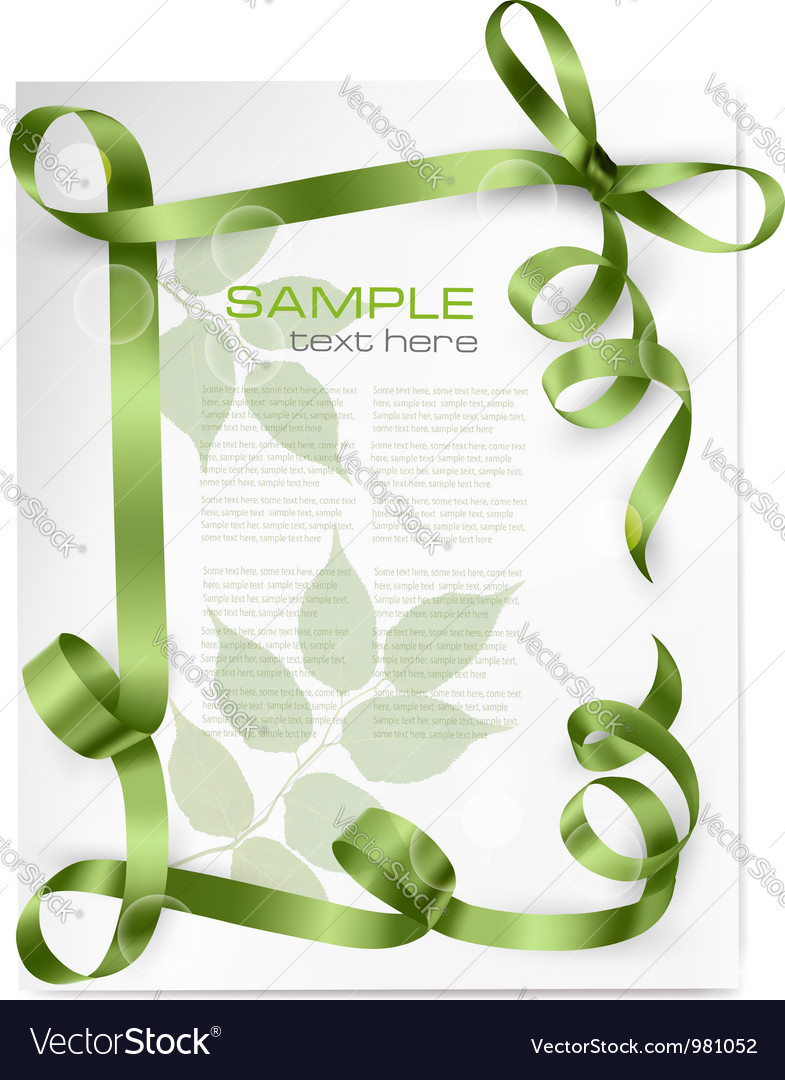 Nature background with green bows and green vector | Price: 1 Credit (USD $1)