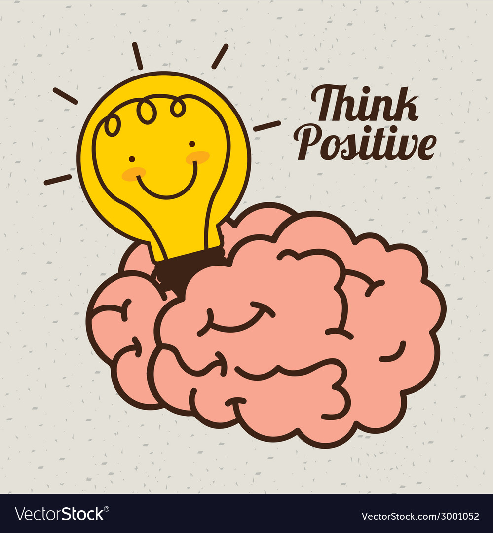 Think positive design vector | Price: 1 Credit (USD $1)