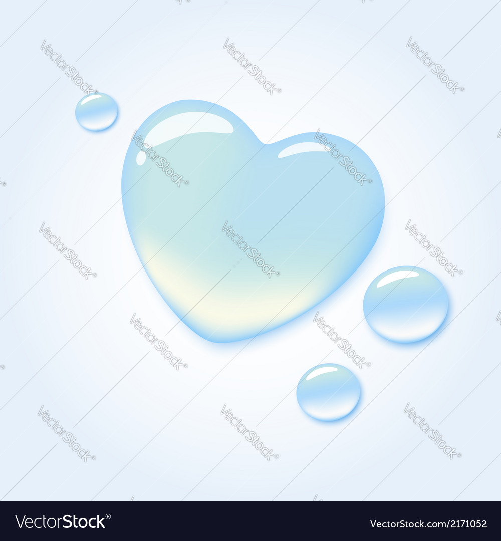Water heart vector | Price: 1 Credit (USD $1)