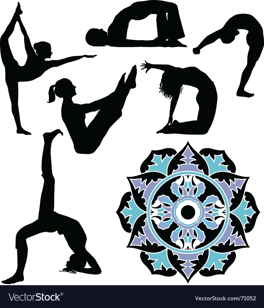 Yoga positions vector | Price: 1 Credit (USD $1)
