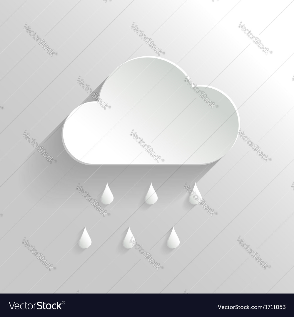 Abstract cloud and rain icon vector | Price: 1 Credit (USD $1)