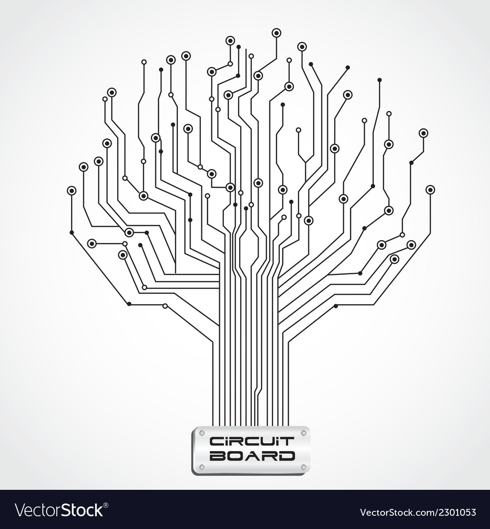 Ccircuit  board shaped tree vector | Price: 1 Credit (USD $1)