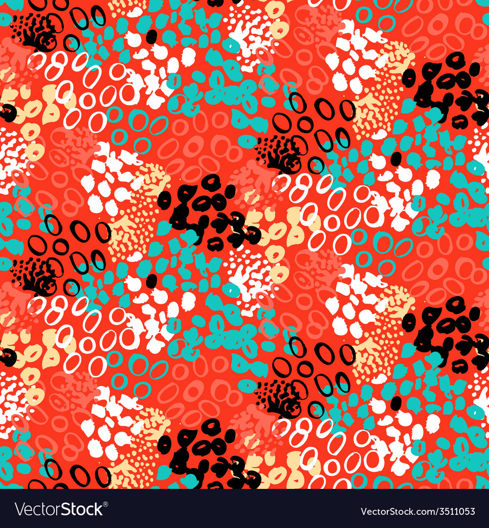 Hand painted pattern with splatters vector   Price: 1 Credit (USD $1)