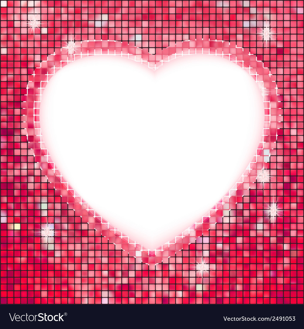 Pink frame in the shape of heart eps 8 vector | Price: 1 Credit (USD $1)