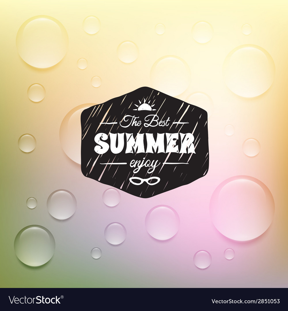 Retro summer label in doodle sketch style isolated vector | Price: 1 Credit (USD $1)